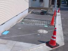 神奈川県秦野市 駐車場部分コンクリート洗出し