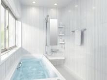 最新のバスルームは清掃性も考えられています