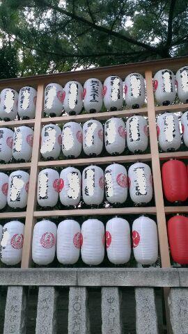 神奈川県平塚市 平塚八幡宮 提灯 常時掲出されています
