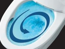勢いの良い水流で便器の鉢内をすみずみまでお掃除