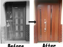 たった1日で玄関ドアがリフォーム出来る リクシルのリシェント