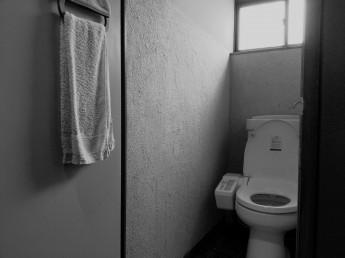 リフォーム前のトイレは手すりが有りませんでした。