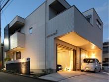 セミオープン外構 平塚市 照明でライトアップ 入りやすい駐車場