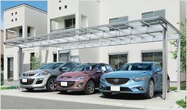 アーキデュオ ワイド 3台駐車可能