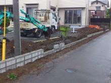 ブロック積み作業