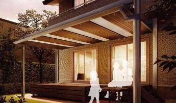 デッキや縁側のテラス屋根としても使えるアーキフィールド