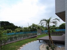 南国リゾート風のお庭が魅力の藤沢の外構施工例