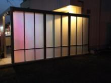 Gスクリーン 施工例  ライトアップ