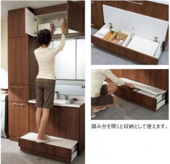 洗面台に踏み台(ステップ)が収納されていてとても便利です