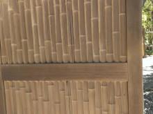 大磯 吉田邸 門扉が竹と木で