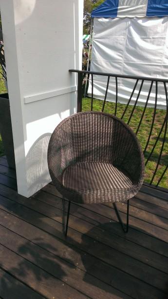タカショーの庭座 サークルチェアです。丸い形が柔らかな印象です