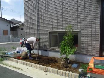 植栽工事中1