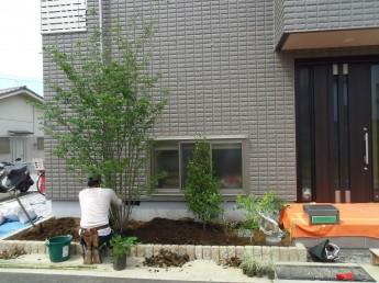 植栽工事中2