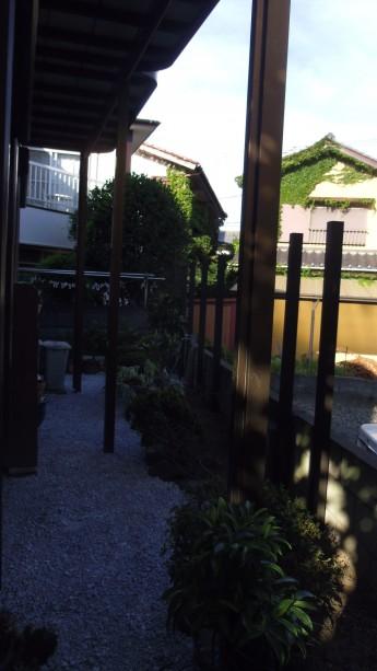 大磯町 ウッドフェンス で目隠し お庭のリフォーム