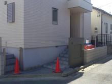 小田原市 外構施工例 門袖基礎 塗り壁前の下地塗り