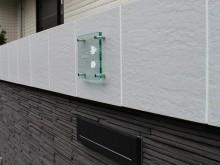 ガラス表札は透明感があって人気があります