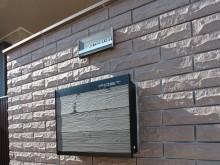 デザイン表札 おしゃれな表札 ウッド 木調 ステンレス ポストのデザインと位置