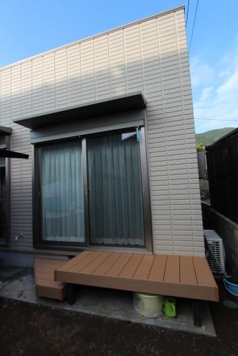 松田町 外構施工例 樹脂デッキ