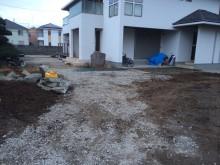 住宅が完成直後の現場