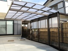 神奈川県を中心とした車庫まわり カーポート オーバードア 伸縮門扉 施工例