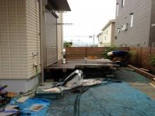 神奈川県秦野市 ウッドデッキ設置作業