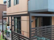 エバーエコウッド使用 ウッドデッキ 樹脂デッキ 施工例 神奈川県 平塚市