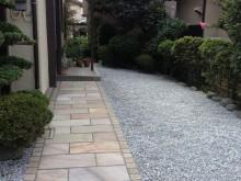 大磯町 外構リフォーム 駐車場 アプローチ お庭