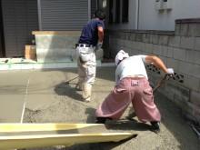 横浜市 外構施工例 二世帯 駐車場 カースペース パーキングスペース