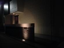 平塚市 門まわり アプローチ 門袖 照明点灯確認