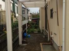 外構施工例 平塚市 フレームポーチ 設置