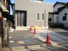 外構施工例 平塚市 機能門柱