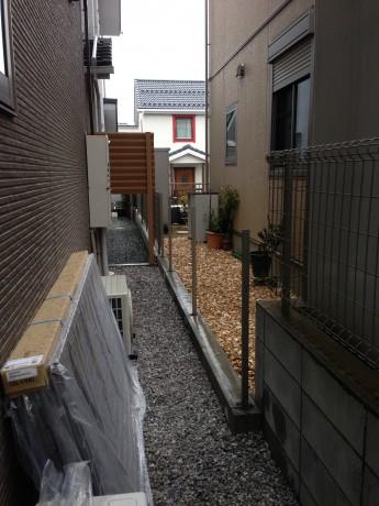 外構施工例 横浜市 フェンス