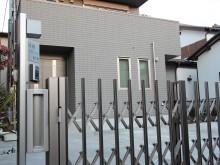 平塚市 外構施工例 伸縮門扉 クローズ外構 駐車場