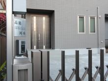 平塚市 外構施工例 伸縮門扉 機能門柱 シテラ