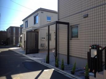 外構施工例 寒川町  Gフレーム 駐車場
