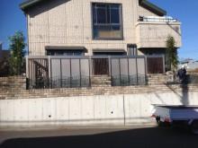 外構施工例 平塚市 Gフレーム設置後の植栽 外側