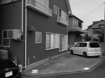 庇の無かった建物と屋根のない駐車スペースでしたが…