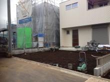 建物完成直後の秦野市の現場