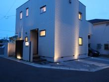 秦野市 ライトアップ 照明 外構施工例  タカショー グランドライト