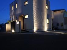 秦野市 照明 ライトアップ 外構施工例 シンボルツリー スポットライト
