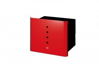 アルファ デザインポスト おしゃれなポスト 赤いポスト