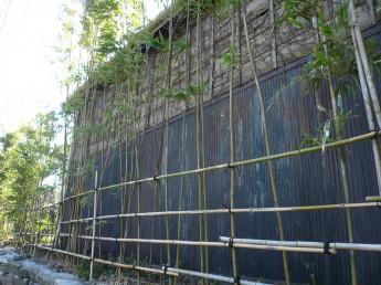 痛みの出ていた木の外壁。トタンは錆がひどかった