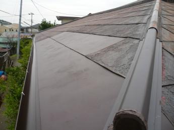 カラートタンの屋根は痛みが出ていました