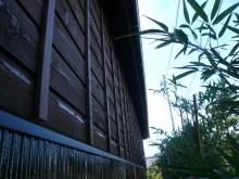 木製サイディング(ウエスタンレッドシダー)をオスモカラーで塗装した和風の外壁