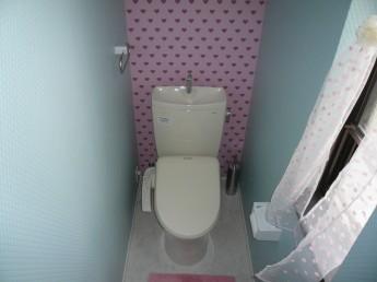 可愛いトイレにリフォーム