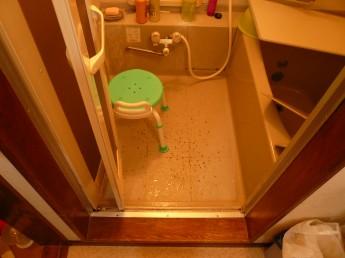 施工前 バスルーム段差
