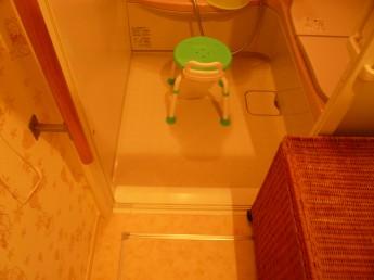 完成後 バスルーム段差解消
