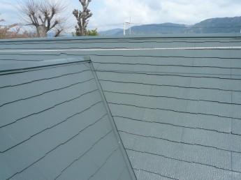 塗装工事の屋根