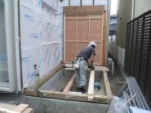 増築の土台作り