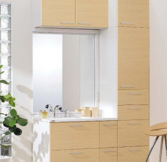 機能美と高いインテリア性にこだわった洗面化粧台